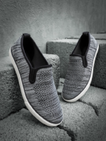 Roadster Men Grey Slip-On Sneakers