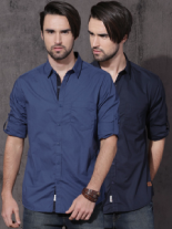 Roadster Pack of 2 Solid Slim Fit Casual Shirts