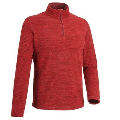 MEN'S MOUNTAIN HIKING FLEECE FORCLAZ 50 - MOTTLED RED