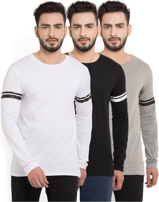 Billion PerfectFit Solid Men Round Neck Multicolor T-Shirt (Pack of 3)