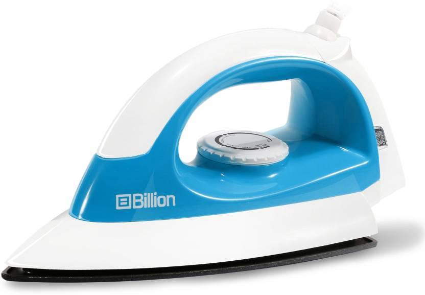 Billion 1000 W Non-stick Compact XR127 Dry Iron (White and Sky Blue)