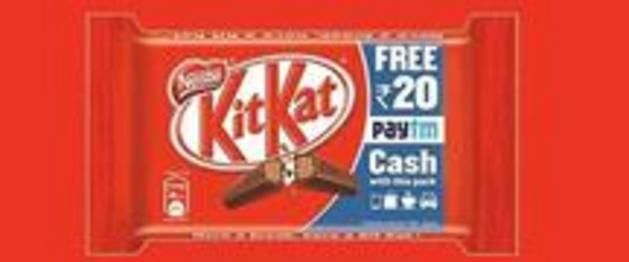 Paytm KitKat Offer - Get Rs 10 or Rs 20 Cashback