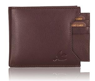 Hornbull Men's Brown Leather Wallet At 64% OFF