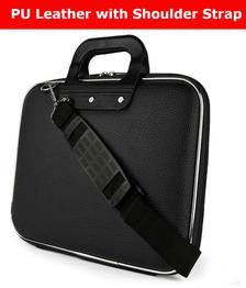 Home Story Black PU Leather Laptop Bag 15 inch Sling Bag For Men & Women/Side Bag