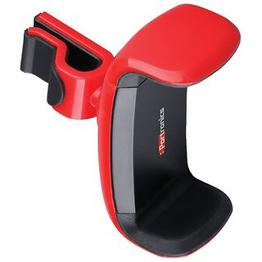 Portronics POR-722 Clamp universal Red Car Mobile Holder for Smart phones with 360 Multi angle adjustable