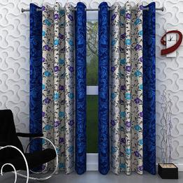 iLiv Combo Of 2 Door 2 Window Curtains - pinkkolavri7ft5ft