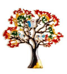 Multicolour Aluminium Medium Wall Tree by Frestol