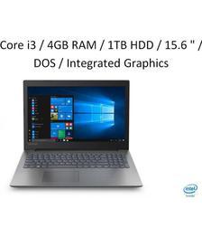 Lenovo Ideapad 130 (Core i3 - 6th Gen/4 GB RAM/1 TB HDD/39.624 cm (15.6 inch)/DOS) 81H70059IN (Black 2.2 Kg)