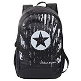 POLE STAR Polyester 30L Black Backpack with Laptop Compartme