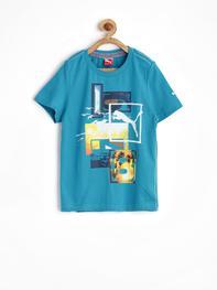 Boys Blue Beach Fun T-shirt