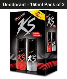 Kamasutra Deodorant Saver Pack (Spark+Rush) 150ml Each