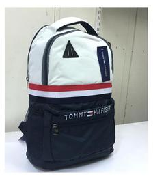 Tommy Hilfiger White Polyester College Bags Backpacks