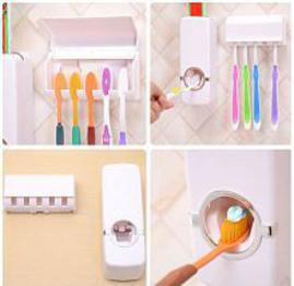 Automatic Toothpaste Dispenser with Toothbrush Holder Stand