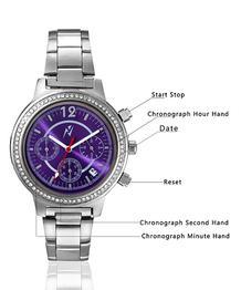 Yepme Women's Chronograph Watch - Purple/Silver