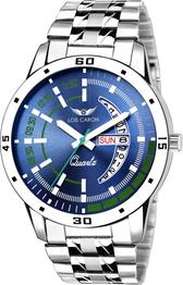 LCS-8075 BLUE DIAL DAY & DATE FUNCTIONING Watch - For Men