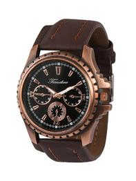 Brown Leather Strap Chronograph Watch