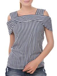 Blue Rayon Stripped Top