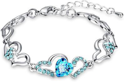 Alloy Crystal Rhodium Bracelet