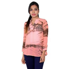 Blossom Pink Ethereal Ethnic Prints Casual Top From eSTYLe