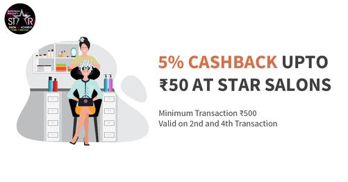 Get 5% Cashback At Star Salons