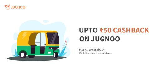 Up To Rs 50 Cashback On Jugnoo