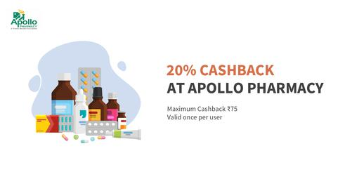 20% Cashback At Apolo Pharmasy