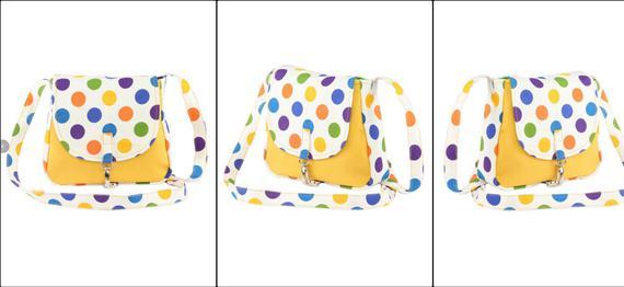 Polka Print Colourful Everyday Bag