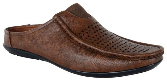 George Adam Brown Mens Slip On Loafer Sandal