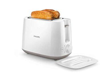 Philips HD2582/00 2 Slice Pop-up Toaster with 8 Settings (White)