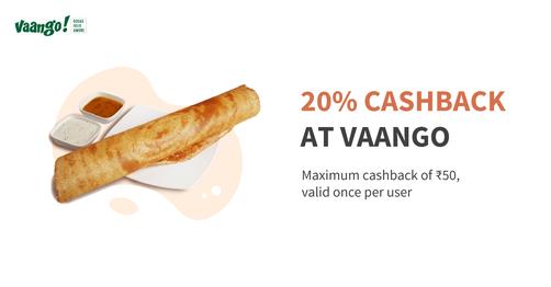 Flat 20% Cashback At Vaango