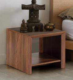 Yuko Bedside Table in Columbia Walnut Finish by Mintwud