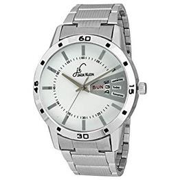 Jack Klein Elegant Silver Metal Day Date Working Wrist Watch