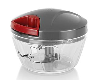 Pigeon by Stovekraft Handy Mini Plastic Chopper with 3 Blades, Grey