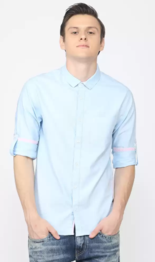 Men Solid Casual Shirt