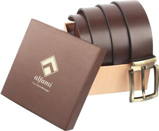 Men Formal, Casual, Party Brown Genuine Leather Belt