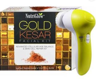 NutriGlow Gold Keser Facial Kit With Face Massager Combo (Set of 2)