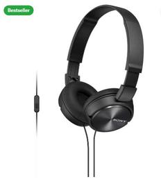 Sony 310AP Wired Headset with Mic (Black, Over the Ear)