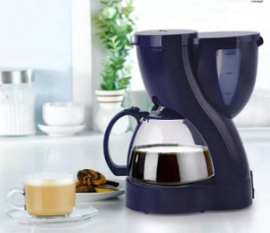 BMS Lifestyle 2-in-one Automatic Tea And coffee machine Drip 6 Coffee Maker (Blue)