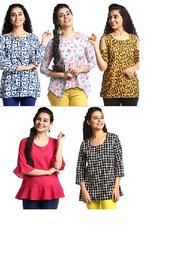 1 Stop Fashion Women's Regular fit Shirt (Pack of 5)