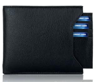 Black Branded Wallet For men, PU Leather, Separable card holder, Bi-Fold, Hand Made