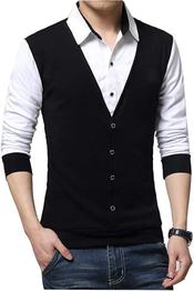 Solid Men Polo Neck Black, White T-Shirt