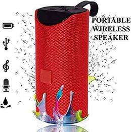 SG TG113 Super Bass Splashproof Wireless Bluetooth Speaker Playing with TV/Mobile/Tablet/Laptop/Aux/Memory Card/Pendrive/FM (Red)