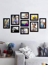 Set of 9 Black Wall Photo Frames