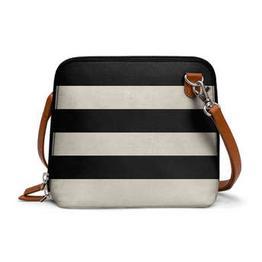 DailyObjects Vintage Black Stripes - Trapeze Crossbody Bag
