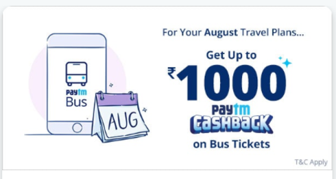 Get up to Rs 200 Cashback on Bus Bookings