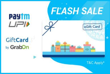 Rs 150 Pe Rs 20 Cashback On All Gift Cards