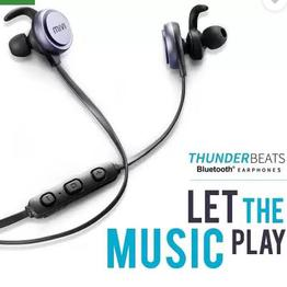Mivi Thunder Beats Bluetooth Headset with Mic (Gun metal/Black, In the Ear)