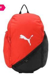 Puma Liga Red & Black Color Block Polyester Laptop Backpack