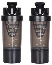 HAANS Shakeit 1000 ml Shaker (Pack of 2, Black)