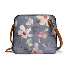 DailyObjects Butterflies And Hibiscus Flowers - Trapeze Crossbody Bag